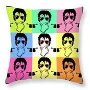Michael Jackson Pop Throw Pillow by Paul Van Scott