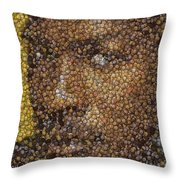 Michael Jordan Money Mosaic Throw Pillow by Paul Van Scott