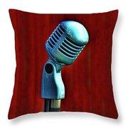 Microphone Throw Pillow by Jill Battaglia