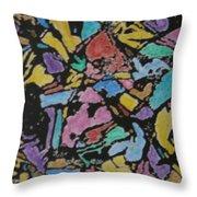Microscopic Meteorite Throw Pillow by Laura Laughren