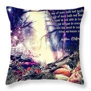 Midsummer Night Dream Throw Pillow by Mo T