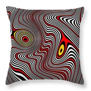 Migraine Aura Throw Pillow by Pet Serrano