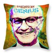 Milton Friedman Throw Pillow by Gary Grayson