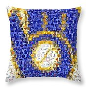 Milwaukee Brewers Mosaic Throw Pillow by Paul Van Scott