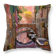Mimosa Sui Canali Throw Pillow by Guido Borelli