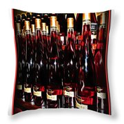 Miner Pink Sparkling Wine Throw Pillow by Joan  Minchak