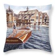 Miss Adventure Throw Pillow by Richard De Wolfe
