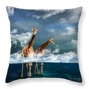 Misty Throw Pillow by Martine Roch