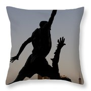 MJ Throw Pillow by Andrei Shliakhau