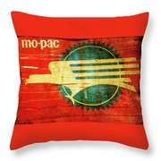 Mo-Pac Caboose  Throw Pillow by Toni Hopper