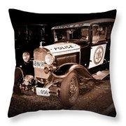 Model A Culver City Police Bw Throw Pillow by David Dunham