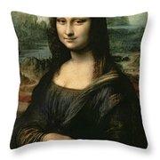 Mona Lisa Throw Pillow by Leonardo da Vinci