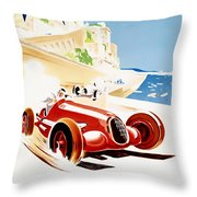 Monaco Grand Prix 1937 Throw Pillow by Nomad Art And  Design