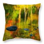 Monet Autumnal Throw Pillow by Aimelle