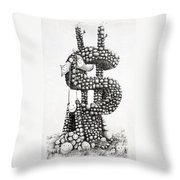 Money Monument Throw Pillow by James Williamson
