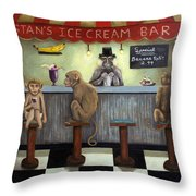 Monkey Business Throw Pillow by Leah Saulnier The Painting Maniac