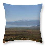 Mono Basin Landscape - California Throw Pillow by Christine Till