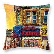 Monsieur Falafel Throw Pillow by Carole Spandau