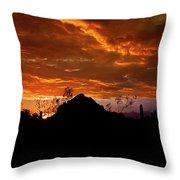 Monsoon Sunset  Throw Pillow by Saija  Lehtonen