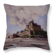 Mont Saint Michel Throw Pillow by Emmanuel Lansyer