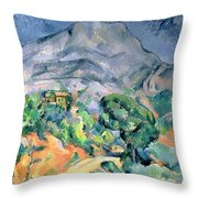 Mont Sainte Victoire Throw Pillow by Paul Cezanne
