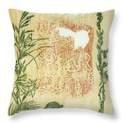 Moon Of Fatness Throw Pillow by Dawn Senior-Trask