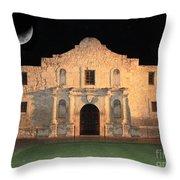 Moon Over The Alamo Throw Pillow by Carol Groenen