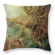 Moon Thread Throw Pillow by Michael Lang