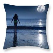 Moonlight Throw Pillow by MotHaiBaPhoto Prints