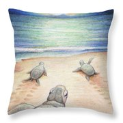 Moonlit March Throw Pillow by Amy S Turner