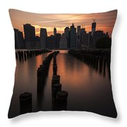 Mooring Eve Throw Pillow by Andrew Paranavitana