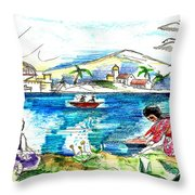 Morelos-2 Throw Pillow by John Keaton