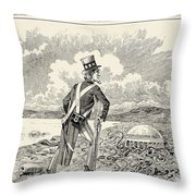 Mormons: Polygamy, 1883 Throw Pillow by Granger