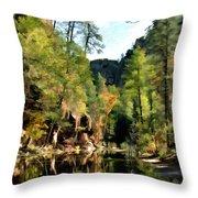 Morning at Oak Creek Arizona Throw Pillow by Kurt Van Wagner