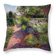Morning Break In The Garden Throw Pillow by Timothy Easton