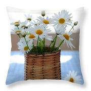 Morning Daisies Throw Pillow by Elena Elisseeva