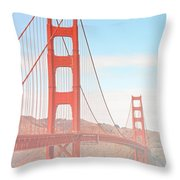 Morning Has Broken - Golden Gate Bridge San Francisco Throw Pillow by Christine Till