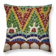 Mosaic Fountain Pattern Detail 4 Throw Pillow by Teresa Mucha