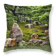Mossy Japanese Garden Throw Pillow by Carol Groenen