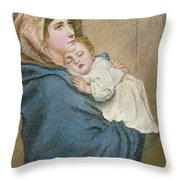 Mother And Child Throw Pillow by English School