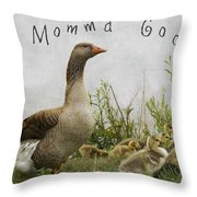 Mother Goose Throw Pillow by Juli Scalzi