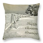 Mother Nature's Christmas Tree Card Throw Pillow by Lois Bryan