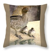 Mother Of Twins Throw Pillow by Holly Kempe