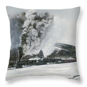 Mount Carmel Eruption Throw Pillow by David Mittner