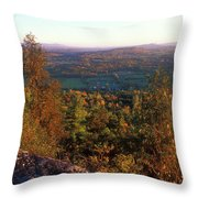 Mount Philo Foliage View Throw Pillow by John Burk