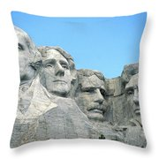 Mount Rushmore Throw Pillow by American School
