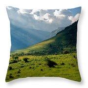 Mountain Rays Throw Pillow by Evgeni Dinev