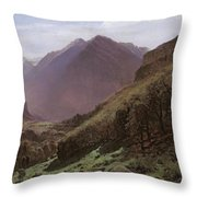 Mountain Study Throw Pillow by Alexandre Calame