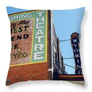 Movie Sign 1 Throw Pillow by Marilyn Hunt