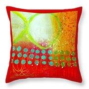 Moving Through 10 Throw Pillow by Jane Davies